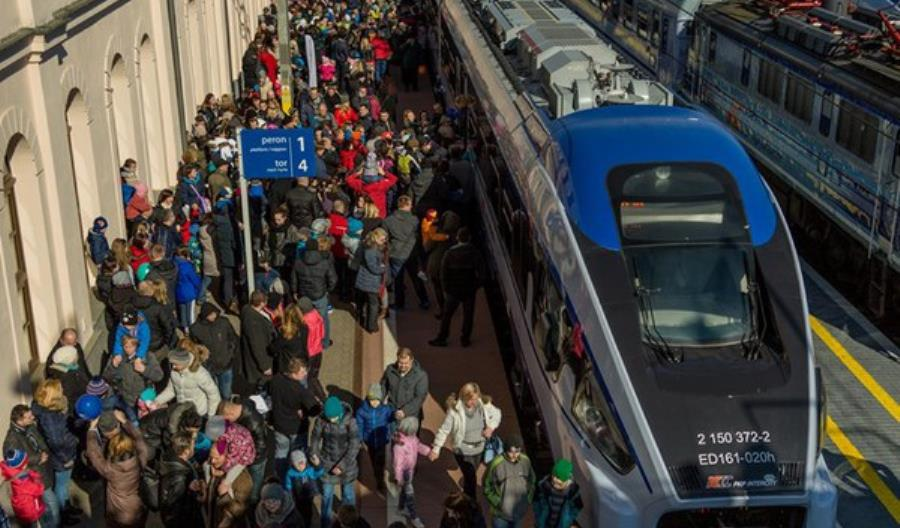 Na początku roku wzrosła liczba pasażerów kolei