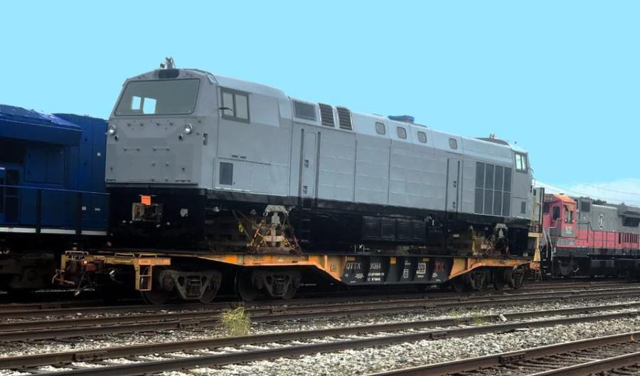 Pierwsza lokomotywa GE dla Kolei Ukraińskich wyrusza ze Stanów