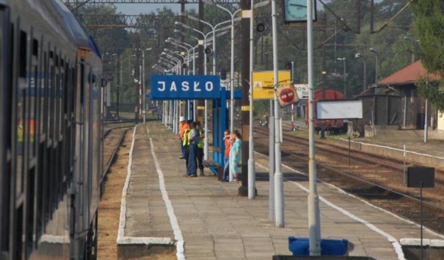 Podkarpackie: Przystanek Jasło Fabryczne czasowo wyłączony z eksploatacji przez ulewę