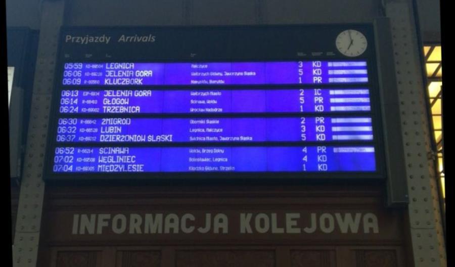 Ogromne utrudnienia na wrocławskim węźle kolejowym [aktualizacja]