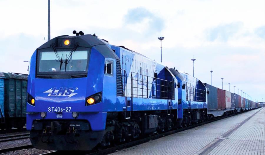 Pierwszy pociąg z Chin, który wjechał do Polski szerokim torem LHS bez przeładunku na granicy