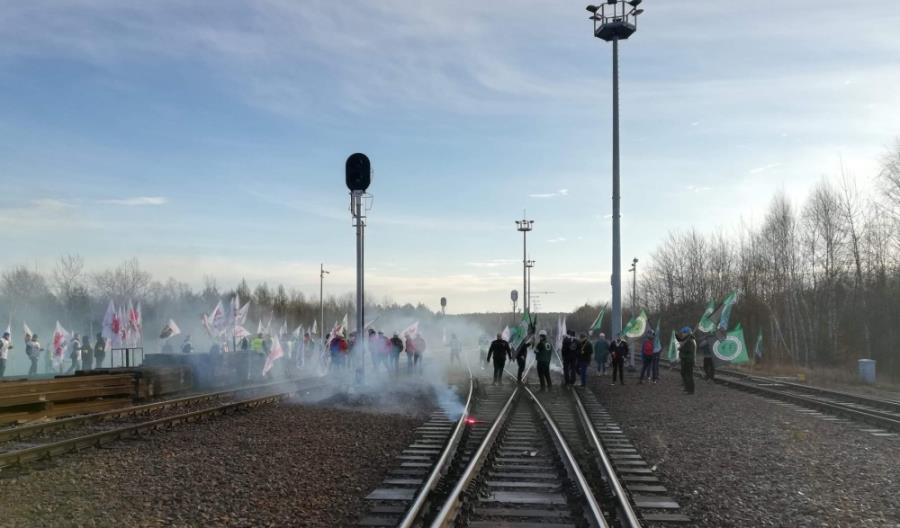 Górnicy zablokowali terminal przeładunkowy w Sławkowie