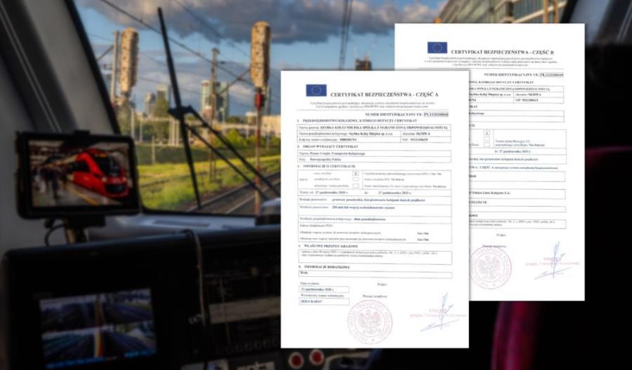 SKM Warszawa z certyfikatem bezpieczeństwa do 2025 roku