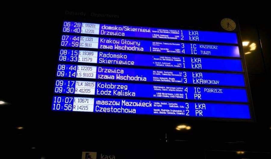 Łódź: Mniej pociągów do Warszawy. Nie ma wolnych torów postojowych
