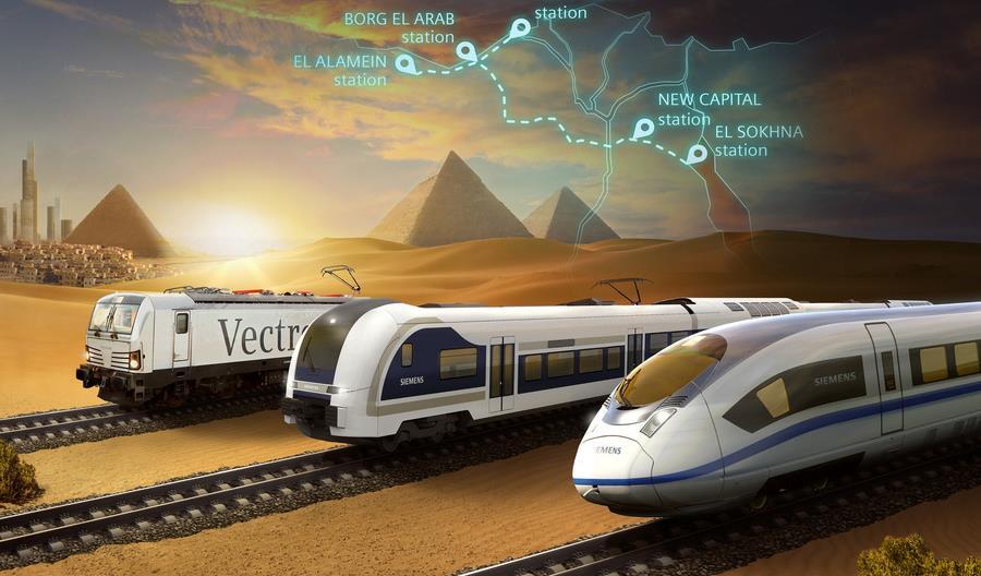Siemens Mobility na drodze do wprowadzenia kolei dużych prędkości w Egipcie
