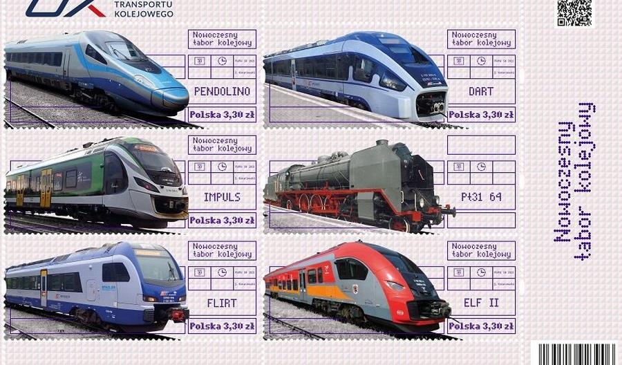 Polskie pociągi wracają na znaczki Poczty Polskiej