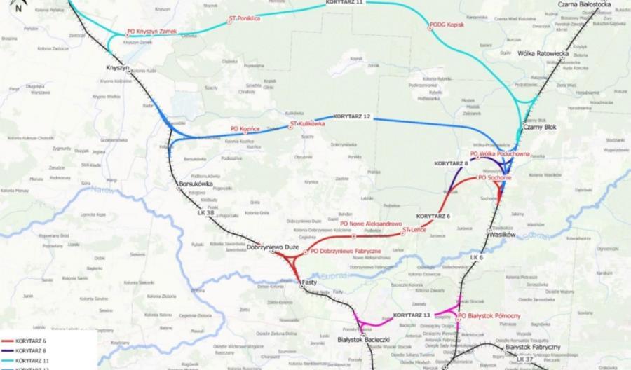 Białystok: Którędy pobiegnie kolejowa obwodnica?