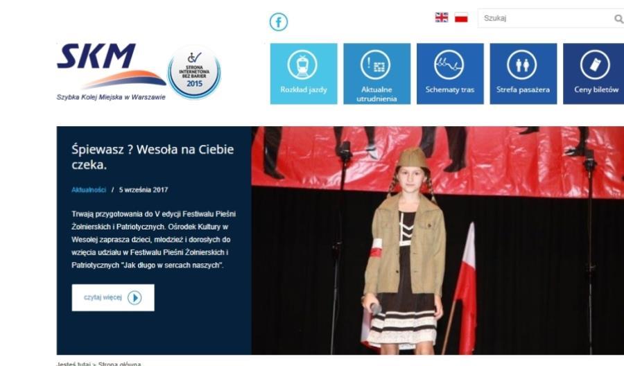 Strona internetowa SKM najbardziej dostępna dla niepełnosprawnych