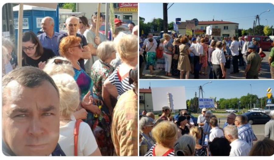 Mieszkańcy Wawra zorganizowali protest. Chcą torów pod ziemią