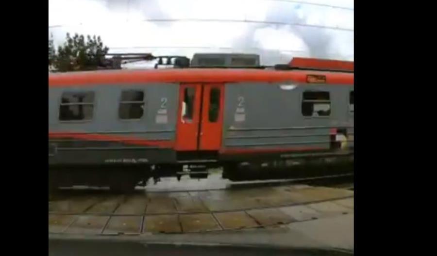 Groźne zdarzenie na przejeździe w Łodzi