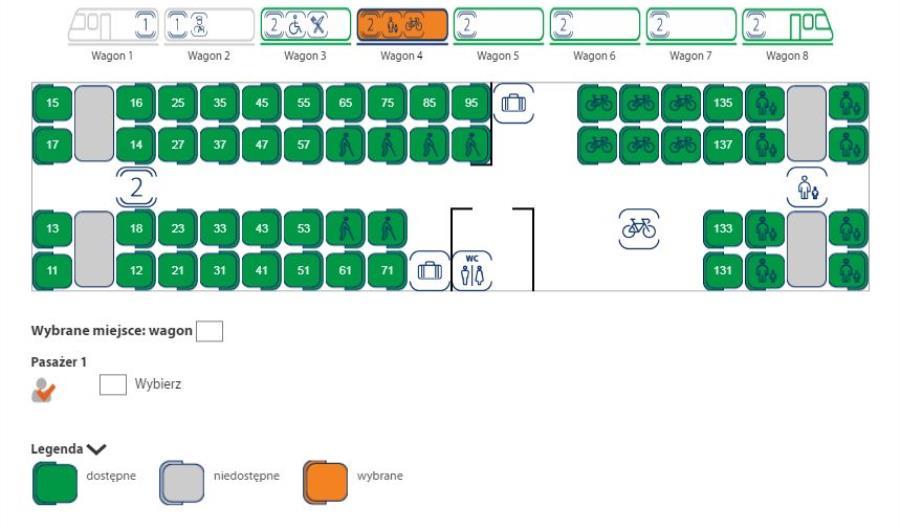 PKP Intercity wprowadza wybór miejsca w pociągu na schemacie