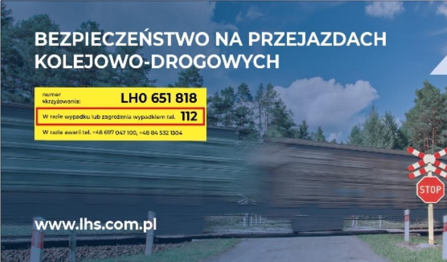 """Bezpieczna kolej – PKP LHS z kampanią """"Bezpieczeństwo na przejazdach kolejowo-drogowych"""""""