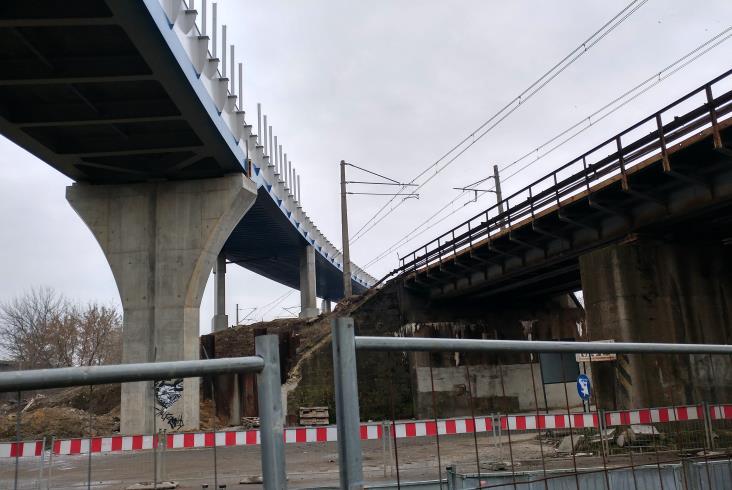 Postępują prace przy krakowskiej łącznicy [zdjęcia]