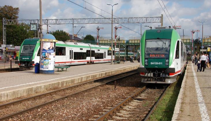Kolej w Planie transportowym województwa podlaskiego