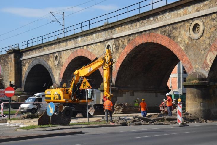 Kraków: Przygotowania do przebudowy wiaduktów na Grzegórzeckiej [zdjęcia]