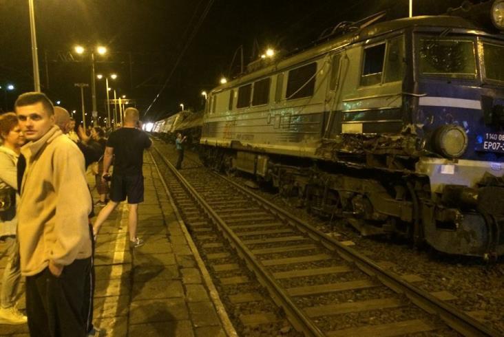 TLK Pogoria po wypadku w Smętowie [film] [nowe zdjęcia]