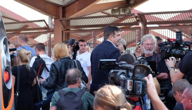 Przemyśl: Saakaszwilemu nie udało się wjechać na Ukrainę pociągiem [Aktualizacja]
