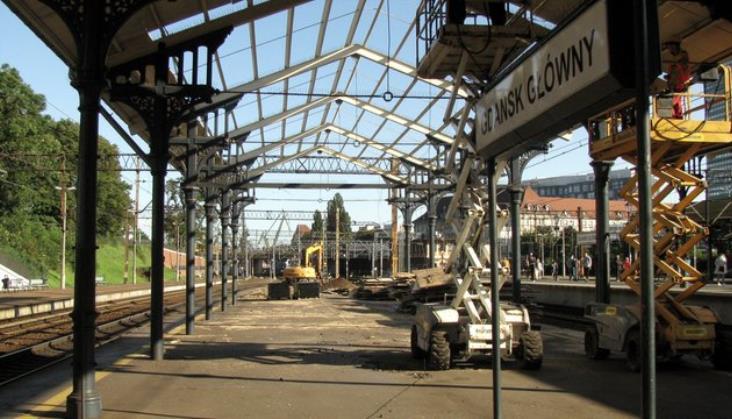 Ruszyła modernizacja peronów dworca Gdańsk Główny