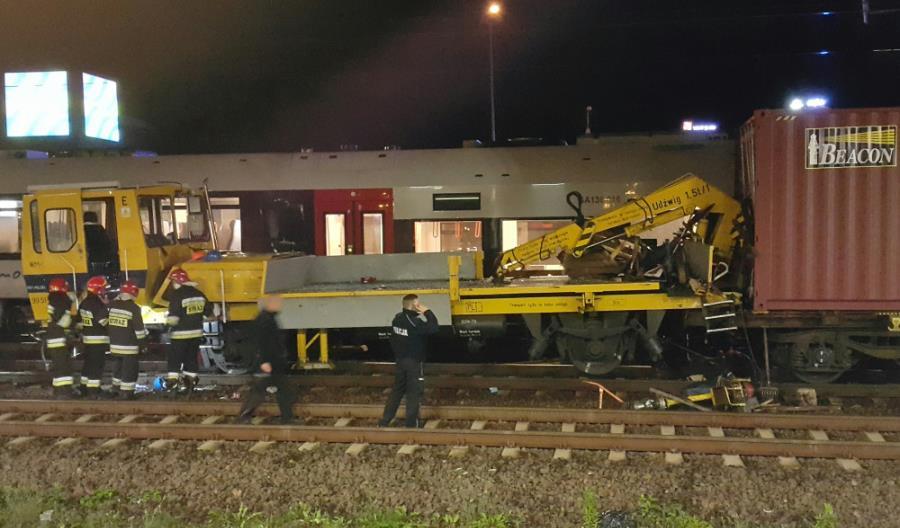 Pomorskie: Zderzenie drezyny z pociągiem towarowym