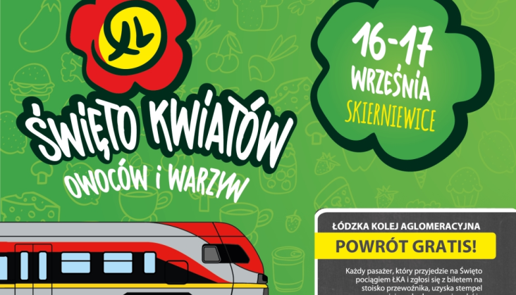 ŁKA ze specjalną ofertą na Święto Kwiatów Owoców i Warzyw w Skierniewicach