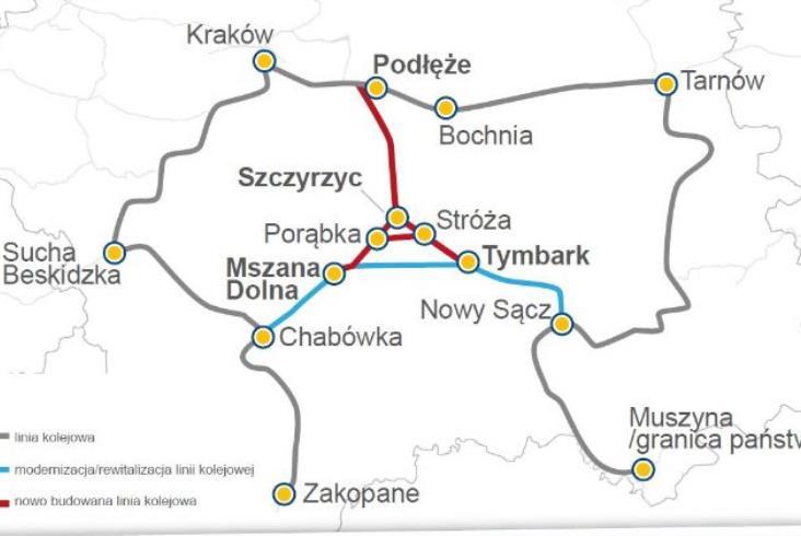 Adamczyk: Budowa linii Podłęże – Piekiełko wkracza w fazę realizacji