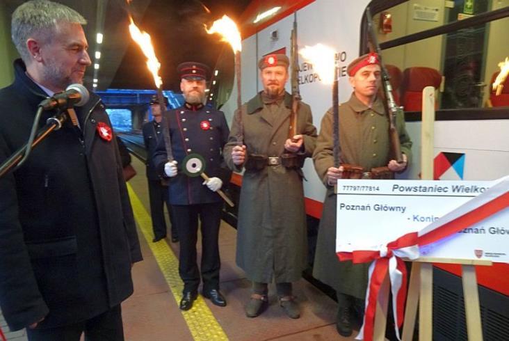 Koleje Wielkopolskie odprawiły Powstańca
