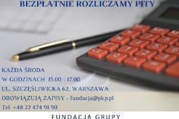 Fundacja Grupy PKP: Można rozliczyć bezpłatnie PIT