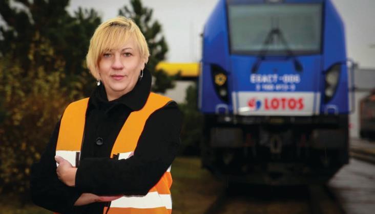 Pierwsza kobieta w gronie maszynistów Lotos Kolej