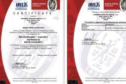 voestalpine SIGNALING Sopot Sp. z o.o. ze standardem IRIS (ISO/TS 22163:2017)