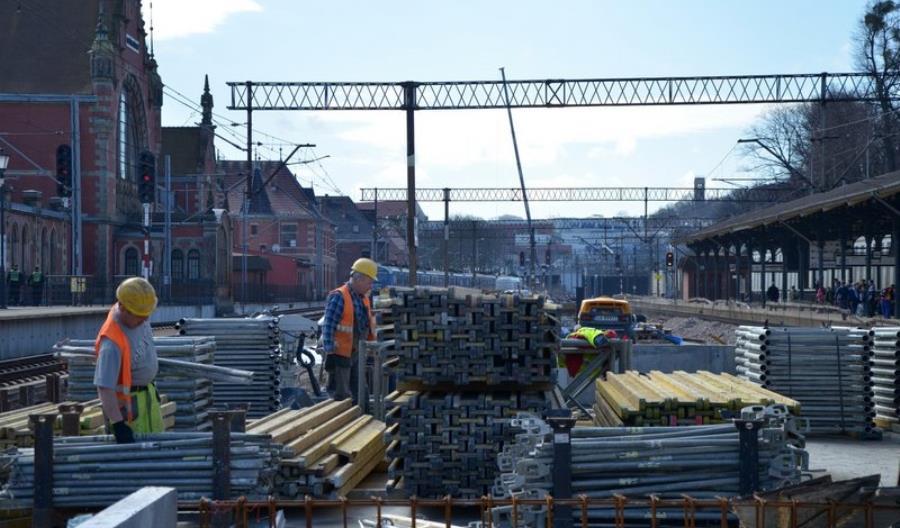 Trwają prace budowlane na stacji Gdańsk Główny