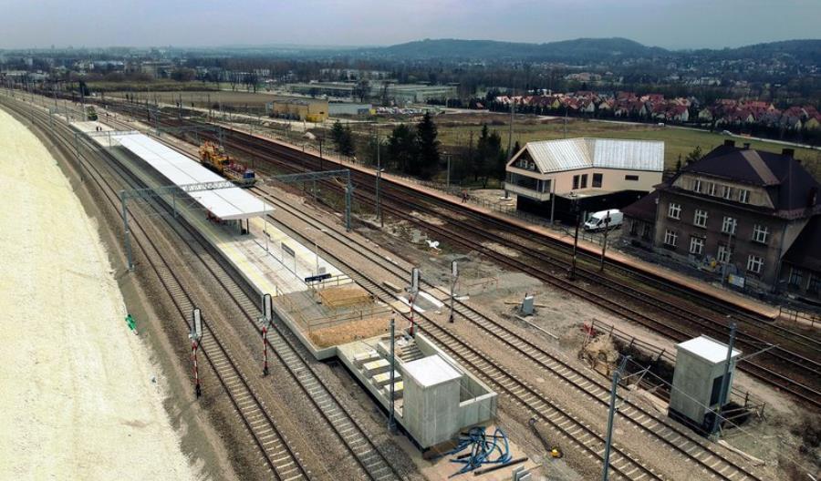 Kraków Mydlniki nowy peron i nowe tory do Krakowa