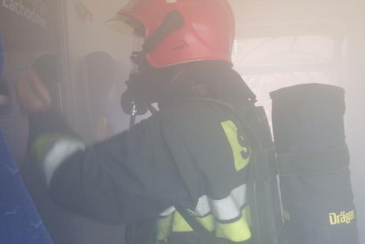 Strażacy symulowali pożar Impulsa