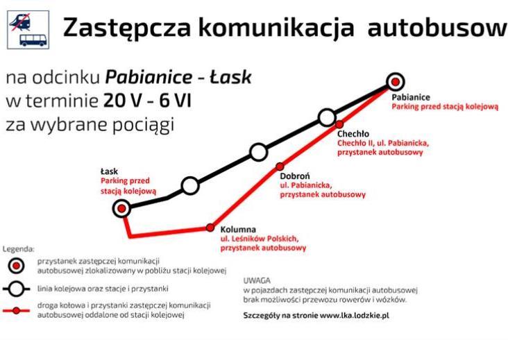 PLK o majowych utrudnieniach na linii nr 14 [aktualizacja]