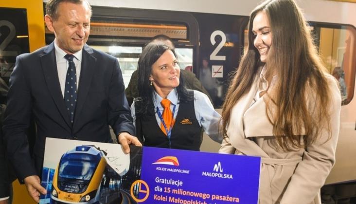 15-milionowym pasażerem Kolei Małopolskich była maturzystka Kasandra