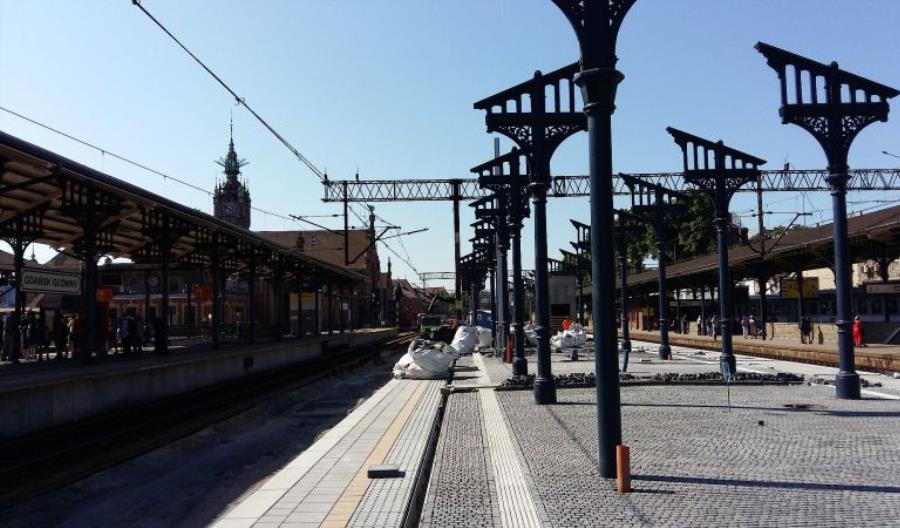 Pierwsze schody ruchome na stacji Gdańsk Główny