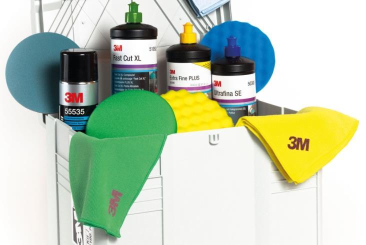 System Polerski Perfect It III Kodowanie kolorami  (materiały 3M do napraw powierzchni lakierowanych)