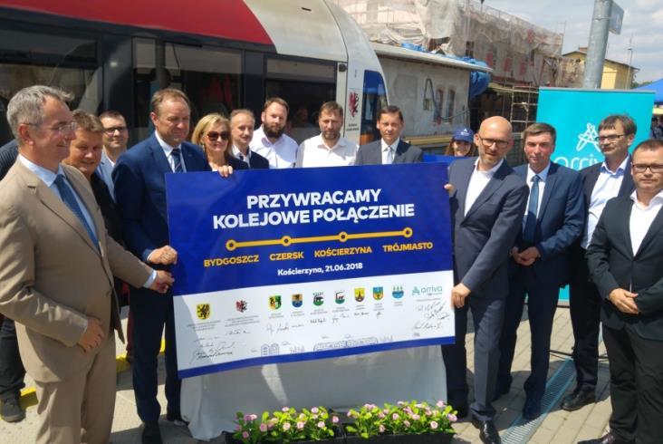 Będą weekendowe połączenia kolejowe z Bydgoszczy do Kościerzyny