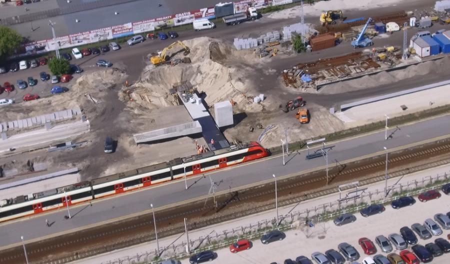 Postępują prace na stacji Otwock. Nowe perony i wiadukty