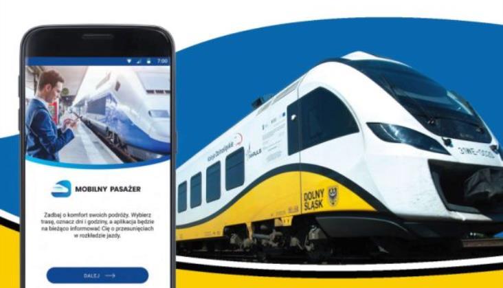 Koleje Dolnośląskie z aplikacją Mobilny Pasażer, ale bez iSMS