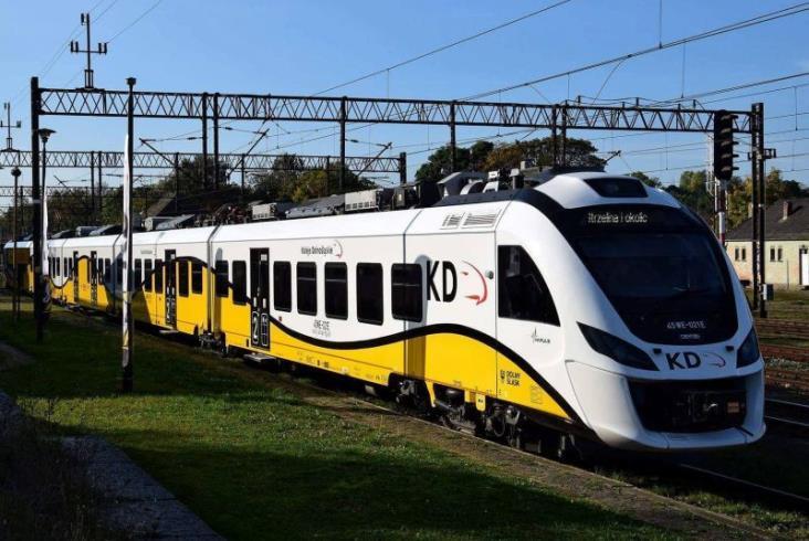 Zmiana w malowaniu pociągów KD. Większe logo województwa [zdjęcia]