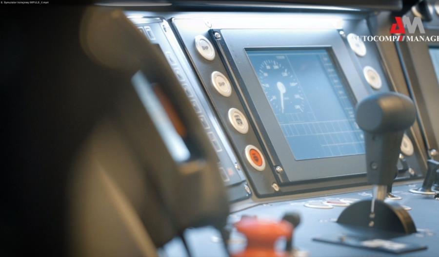 Symulator pojazdów kolejowych firmy Autocomp Management