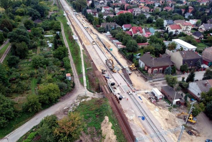 Kraków Prokocim z nowym peronem, nowy tor z Bieżanowa do Płaszowa [zdjęcia]