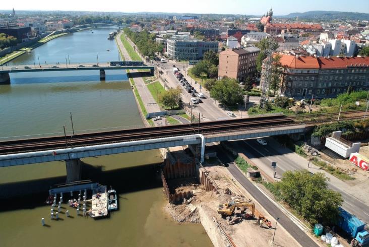 Powstają nowe krakowskie mosty kolejowe [zdjęcia]