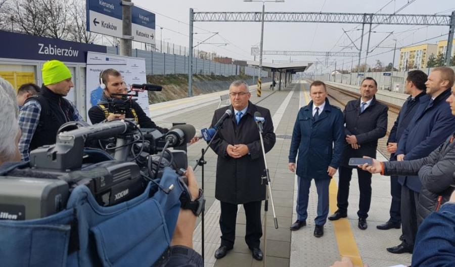 Adamczyk odwiedził modernizowaną stację Zabierzów