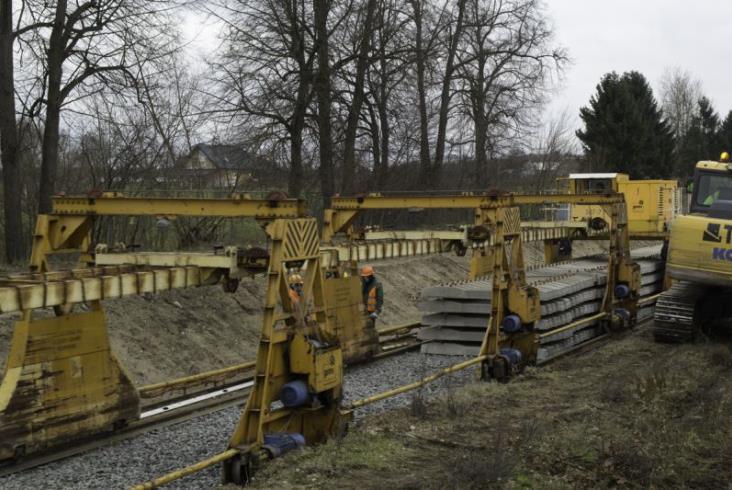 Postępy prac na linii Szczytno – Ełk [zdjęcia]