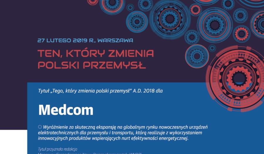 """Medcom laureatem tytułu """"Tego, który zmienia polski przemysł"""""""