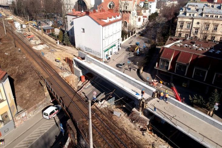 Nowa estakada kolejowa w Krakowie