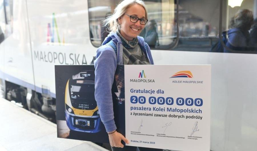 20-milionowa pasażerka Kolei Małopolskich