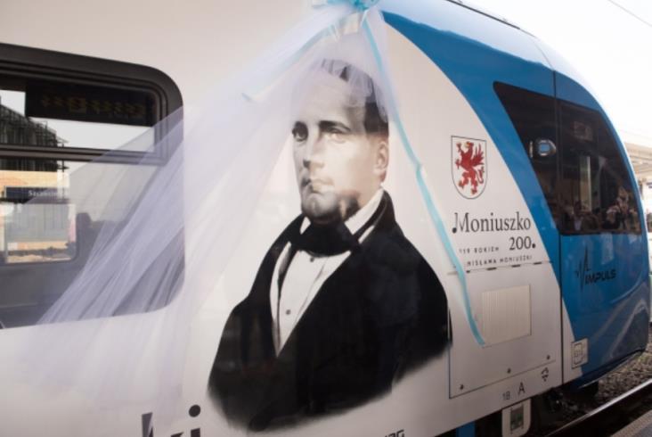 Pociąg poświęcony Moniuszce na Pomorzu Zachodnim