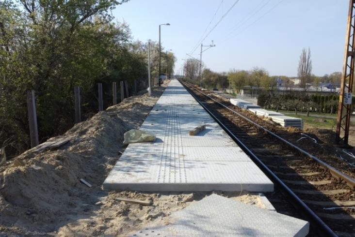 Z nowego peronu w Wieluniu [zdjęcia]